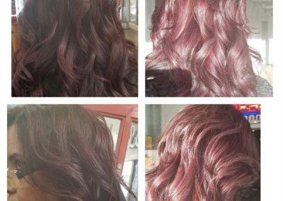 fremont hair salon burgundy hair coloring